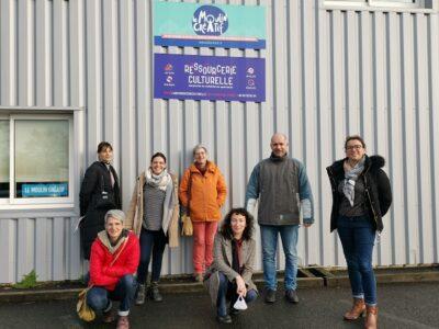 Photo d'une partie du groupe mobilisé pour le projet Bouffée d'Art frais